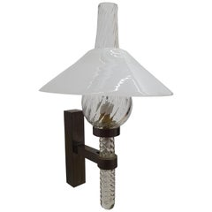 Mid-Century Modern Sconce designed by Barovier Toso, Italy, circa 1940
