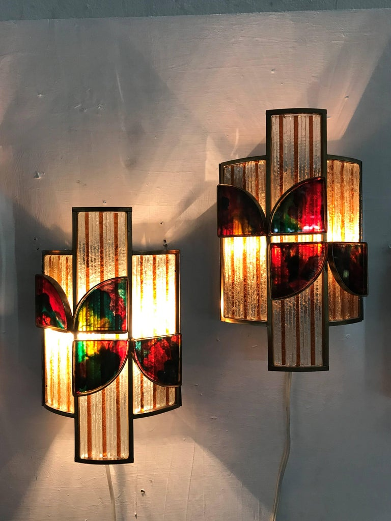 set of 10 Mid-Century Modern Sconces by Poliarte, Italy, circa 1960 In Good Condition For Sale In Merida, Yucatan