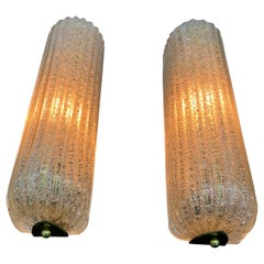 Mid-Century Modern Sconces Designed by Barovier Toso, Italy, circa 1960