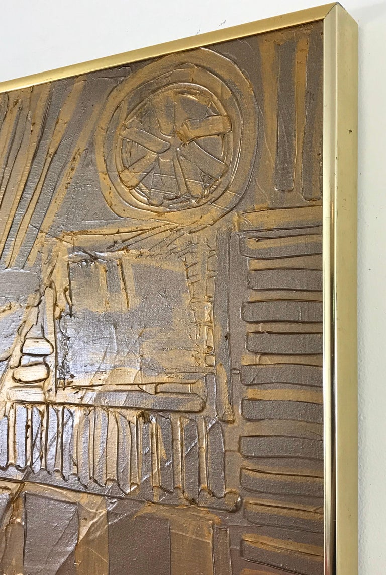 Late 20th Century Mid-Century Modern Sculpted Brutalist Wall Art in the Style of Adrian Pearsall For Sale