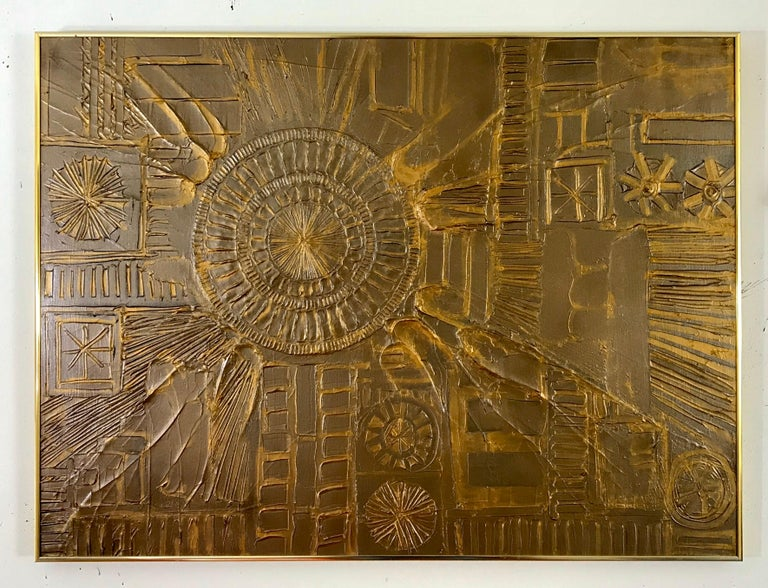 Mid-Century Modern Sculpted Brutalist Wall Art in the Style of Adrian Pearsall For Sale 1