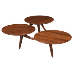 Mid-Century Modern Sculpted Floating-Top Coffee Table by ACE-HI