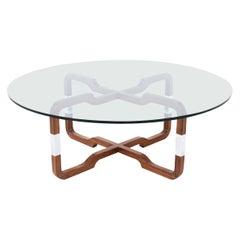 Mid-Century Modern Sculpted Walnut Coffee Table by Brown Saltman