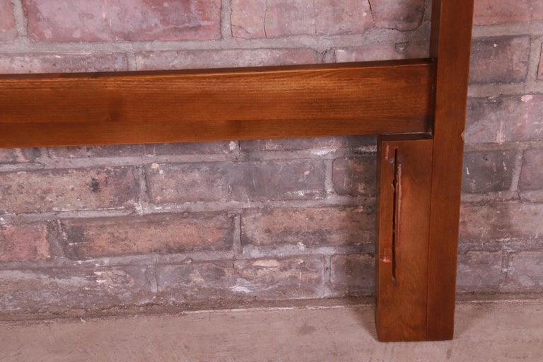 Mid-Century Modern Sculpted Walnut Diamond Front Headboard by United For Sale 2