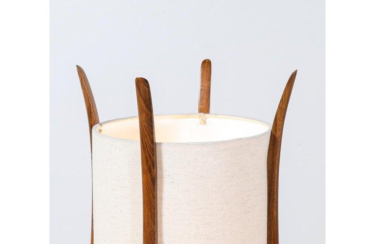 Mid-Century Modern Sculpted Walnut Floor Lamp by Modeline For Sale 1