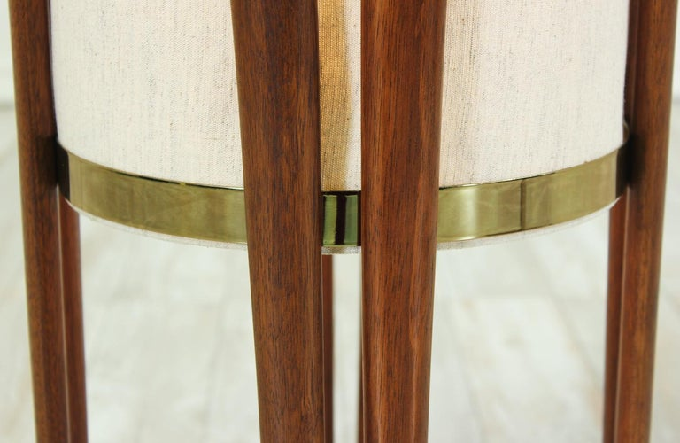 Mid-Century Modern Sculpted Walnut Floor Lamp by Modeline 9