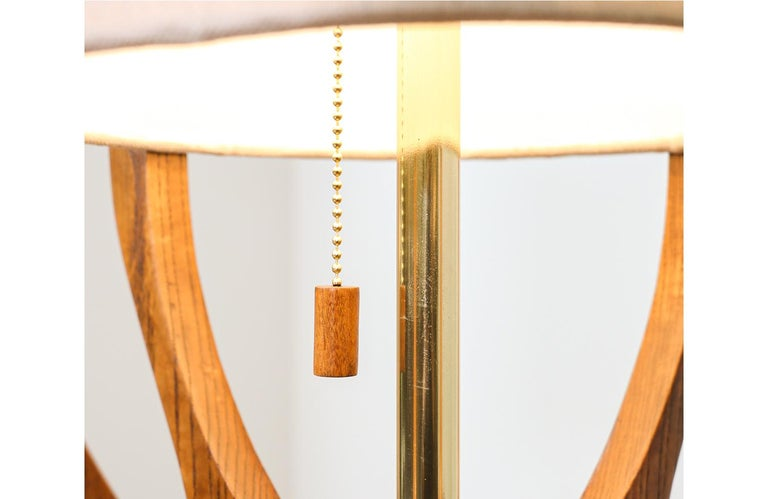 Mid-20th Century Mid-Century Modern Sculpted Walnut Table Lamp by Modeline For Sale