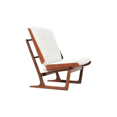 Mid-Century Modern Sculptural Bentwood Lounge Chair