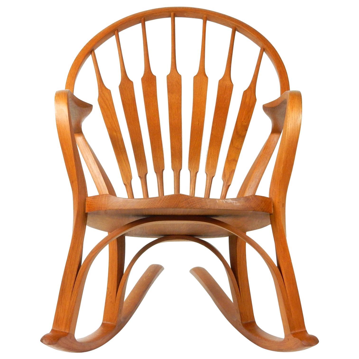 Mid-Century Modern Sculptural Bentwood Rocking Art Chair