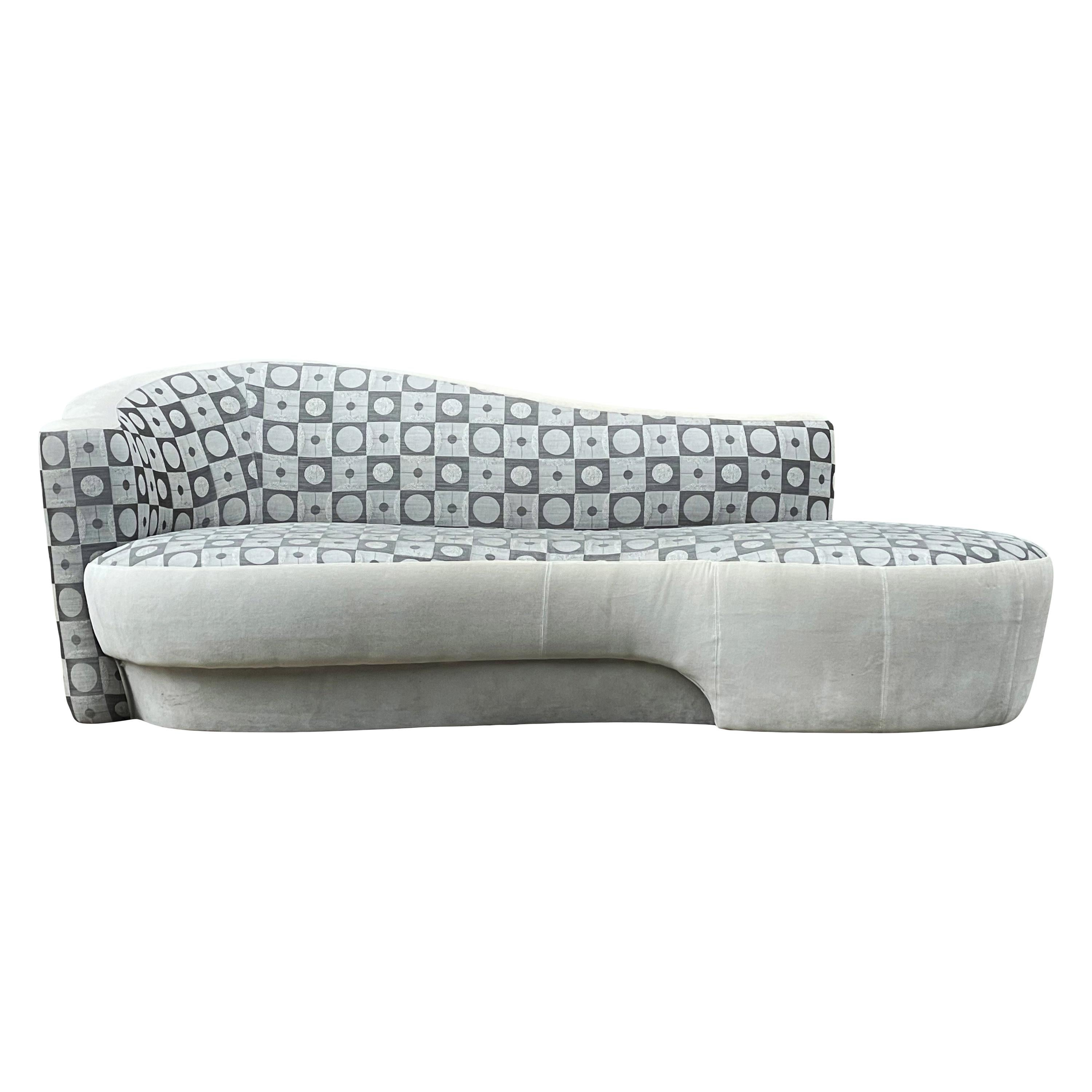 Mid-Century Modern Sculptural Curved Sofa by Weiman
