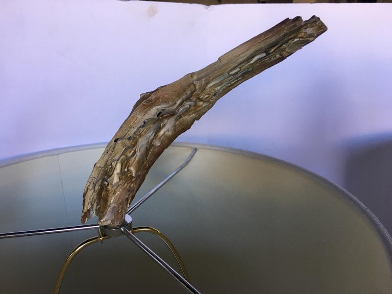 Mid-Century Modern Sculptural Driftwood Table Lamps in Gesso For Sale 12