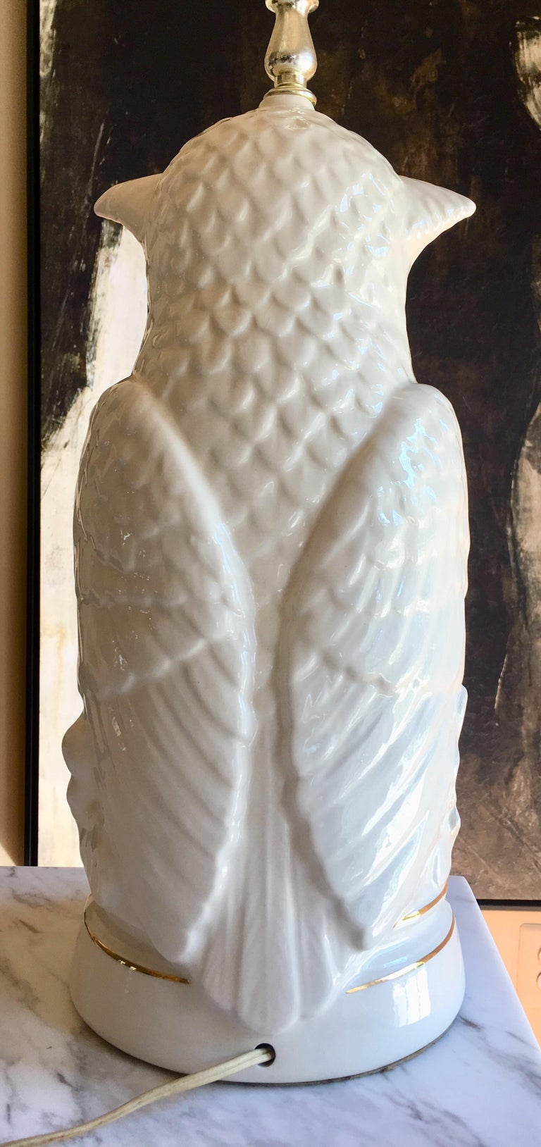 Late 20th Century Mid-Century Modern Sculptural Owl Table Lamp