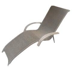 Mid-Century Modern Sculptural Rattan Lounge Chair