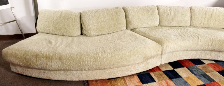 Late 20th Century Mid-Century Modern Sculptural Serpentine Sofa Sectional by Adrian Pearsall 1970s For Sale