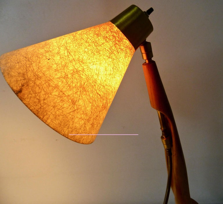 American Mid-Century Modern Sculptural Table Lamp by Heifetz NYC For Sale