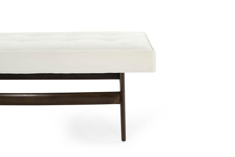 20th Century Mid-Century Modern Sculptural Walnut Bench For Sale