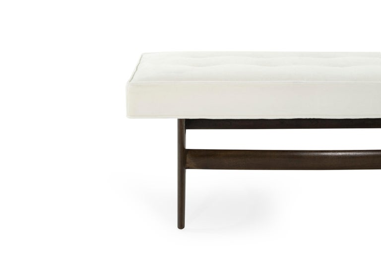 Mid-Century Modern Sculptural Walnut Bench For Sale 1