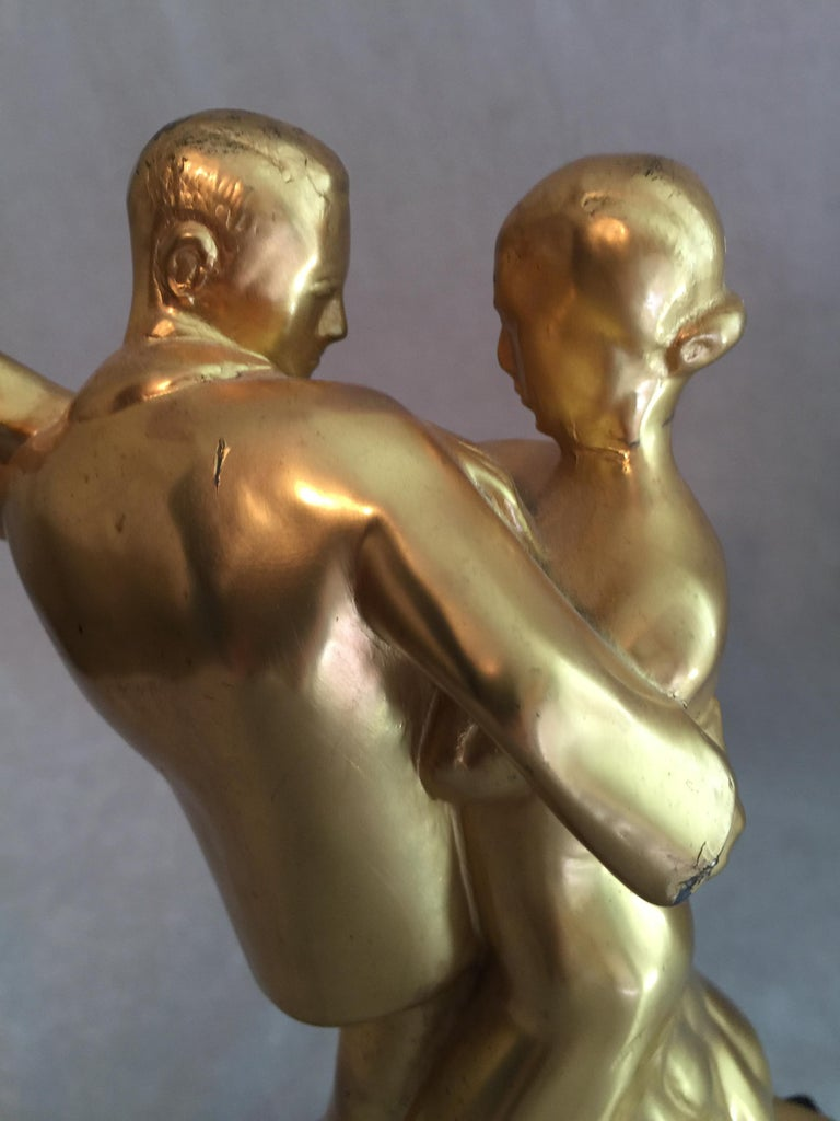20th Century Mid-Century Modern Sculpture, Dance Couple, Presented as Trophy, Dated 1958 For Sale