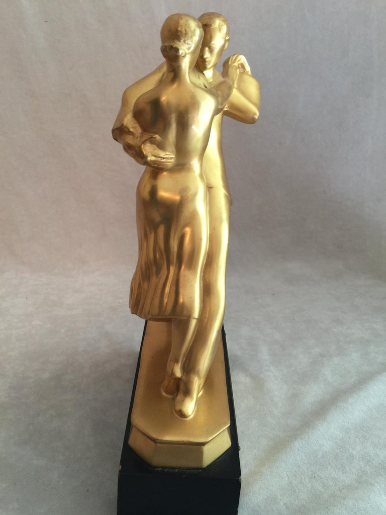 Mid-Century Modern Sculpture, Dance Couple, Presented as Trophy, Dated 1958 For Sale 1