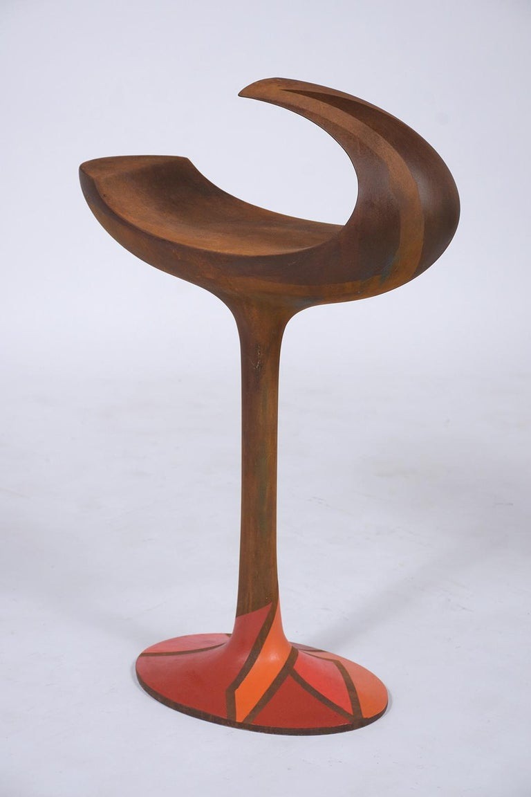 American 1970's Vintage Mid-Century Modern Abstract Sculpture For Sale