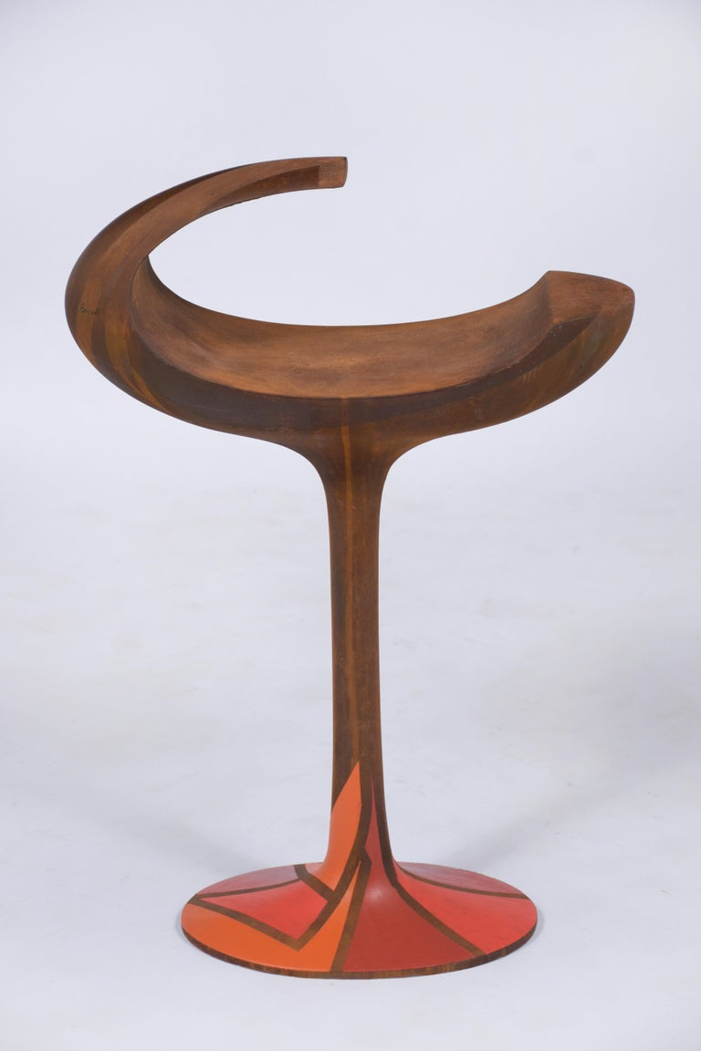 1970's Vintage Mid-Century Modern Abstract Sculpture For Sale 2