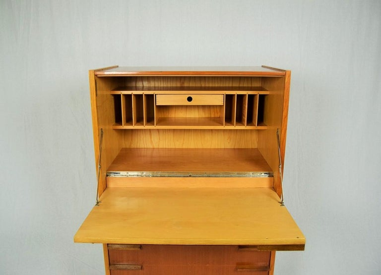 Mid-Century Modern Secretaire by František Mezulánik for UP Závody, 1960s In Good Condition For Sale In Barcelona, ES