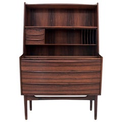 Mid-Century Modern Secretary Desk in Rosewood, Danish Design, 1970s