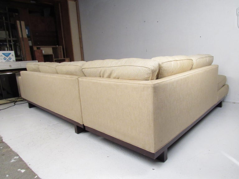 Upholstery Mid-Century Modern Sectional Sofa by Milo Baughman for Thayer Coggin For Sale