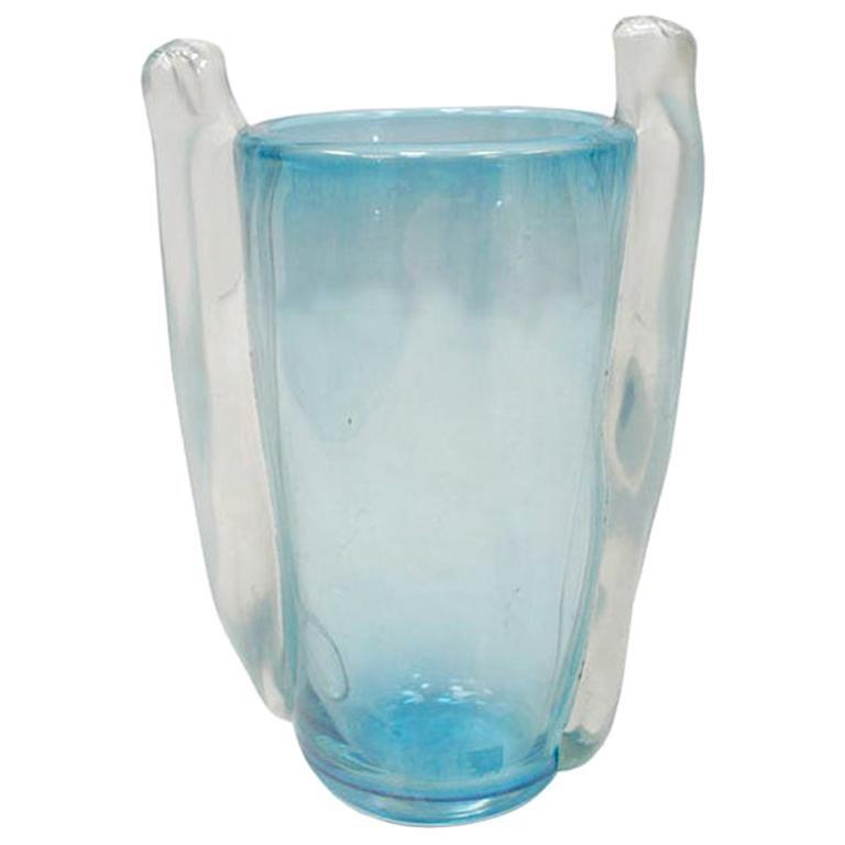 Mid-Century Modern Seguso Vetri d'Arte Italian Murano Glass Vase