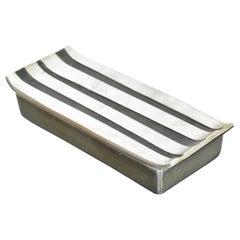 Mid-Century Modern Seibel Jenfred Ware Keepsake Double Cigarette Silver Box