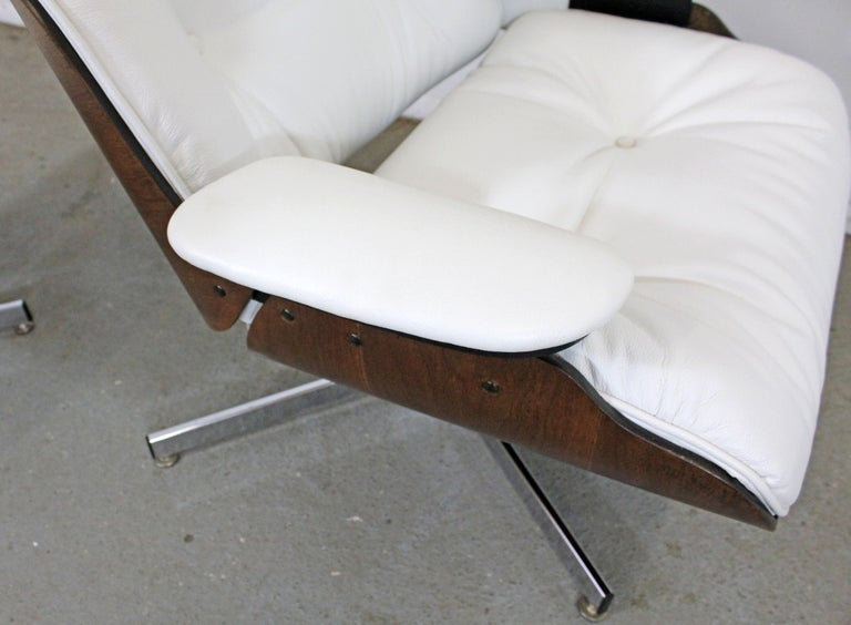 Mid-Century Modern Selig Eames Leather Lounge Chair and Ottoman 6