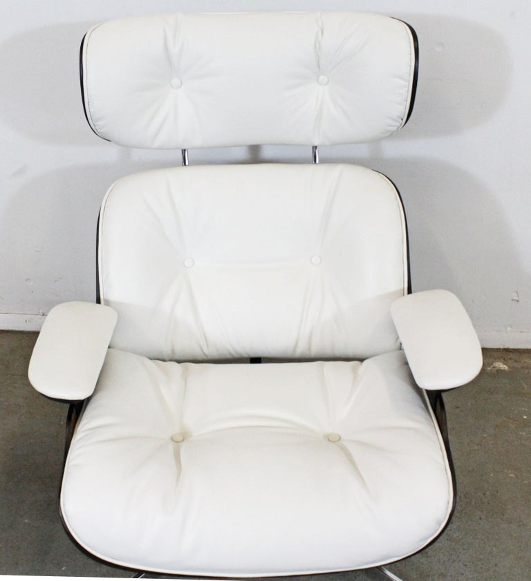 Mid-Century Modern Selig Eames Leather Lounge Chair and Ottoman 1