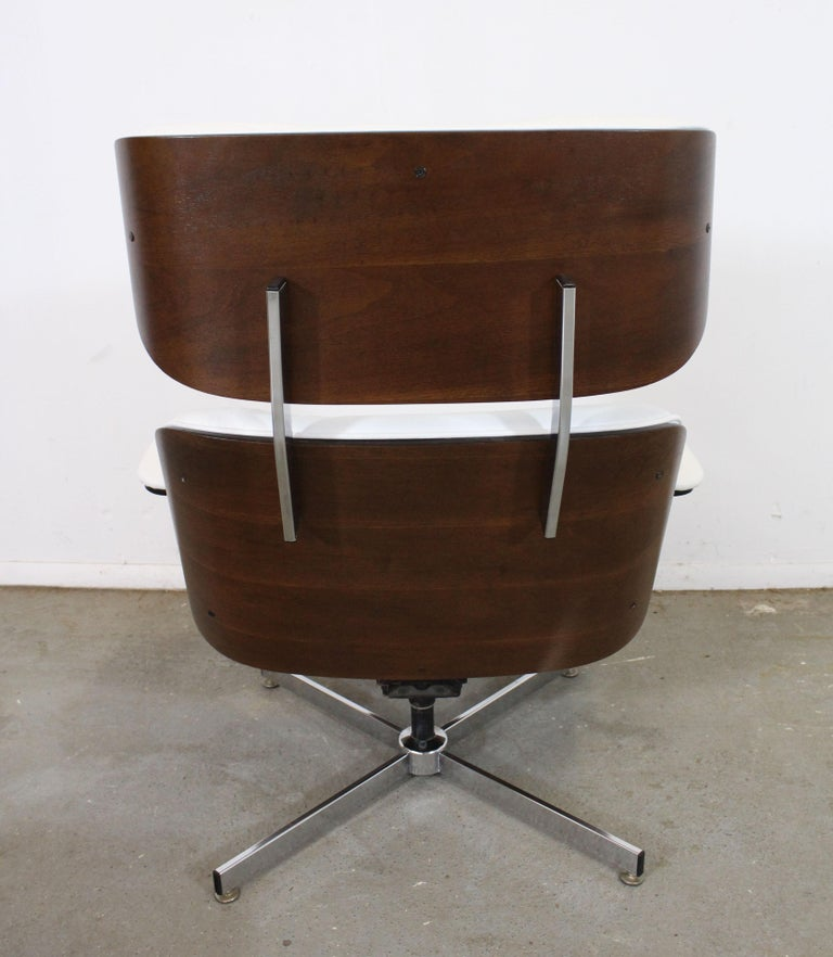 Mid-Century Modern Selig Eames Leather Lounge Chair and Ottoman 2
