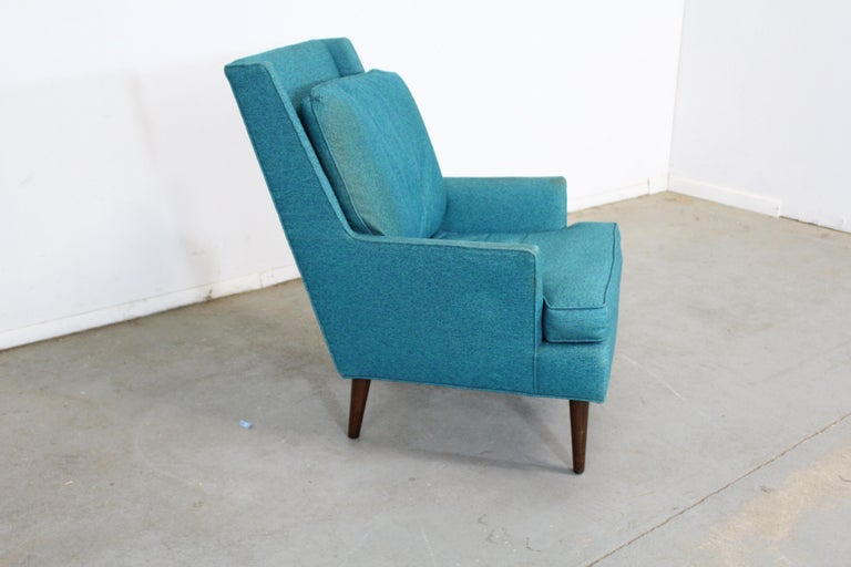 North American Mid-Century Modern Selig Pencil-Leg Lounge Chair For Sale