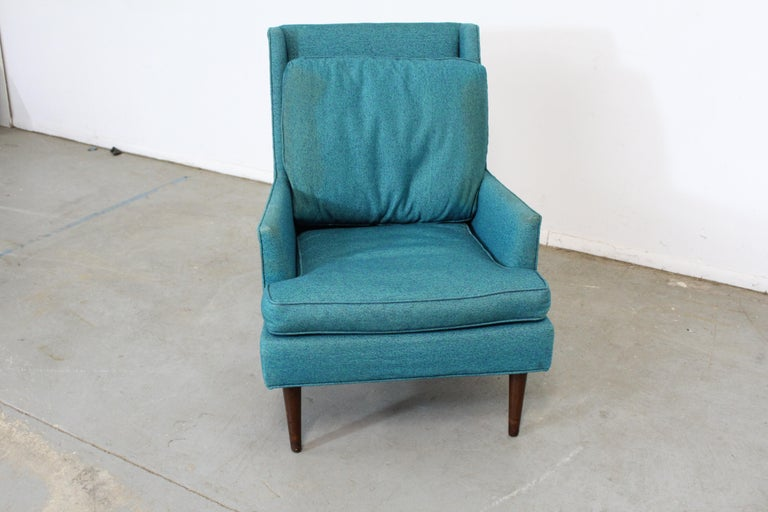 Mid-Century Modern Selig Pencil-Leg Lounge Chair In Fair Condition For Sale In Wilmington, DE