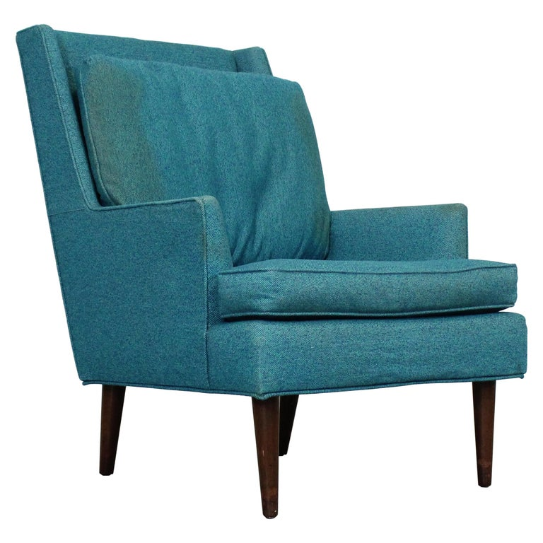 Mid-Century Modern Selig Pencil-Leg Lounge Chair For Sale