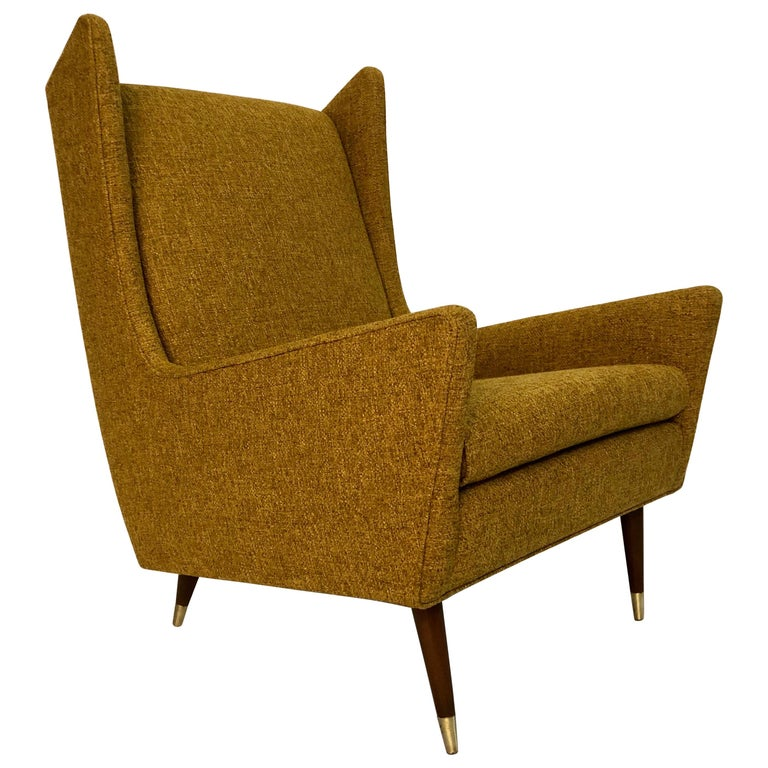 mid century modern wing chairs