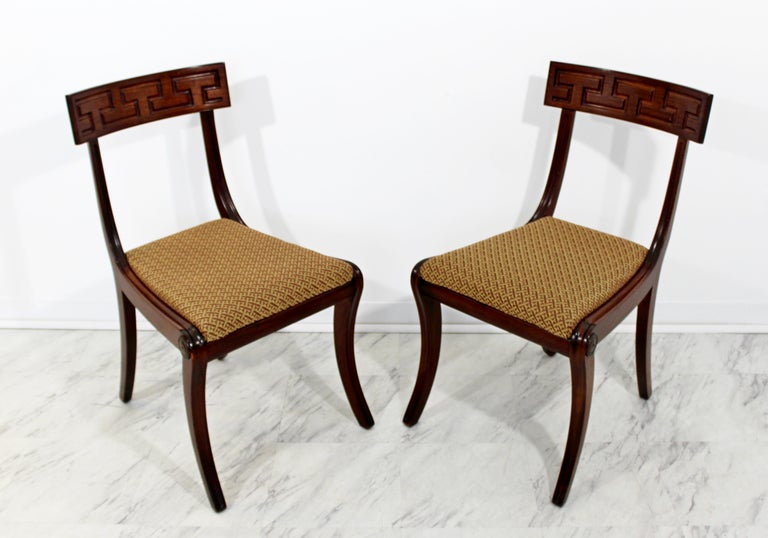 Set of 8 1960/'s Leather Dining Chairs By Baker Furniture