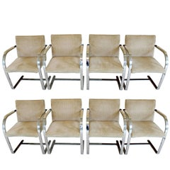 Mid-Century Modern Set of Eight Mies van der Rohe Knoll Brno Dining Chairs 1960s
