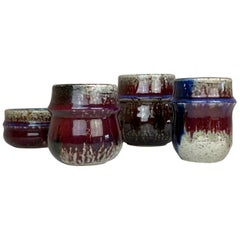 Mid-Century Modern Set of 4 Ceramic Pieces Rörstrand Sylvia Leuchovius, 1960s