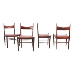 Mid-Century Modern Set of 4 Dining Chairs in Rosewood by H. Vestervig Erik