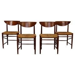 Mid-Century Modern Set of 4 Neils Moller Danish Teak Side Dining Chairs 1960s