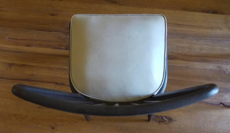 Mid-Century Modern Set of 6 French Black and Gray Chairs by Charles Ramos In Good Condition For Sale In Firenze, Tuscany