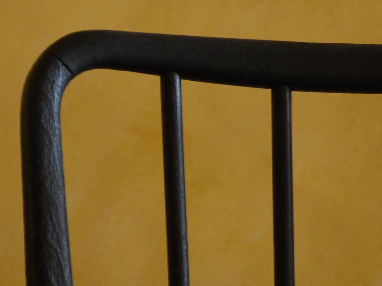Mid-Century Modern Set of 6 French Black and Gray Chairs by Charles Ramos For Sale 1