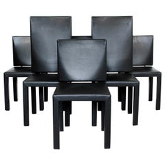 Mid-Century Modern Set of 6 Paolo Piva Arcadia Dining Chairs for B&B Italia
