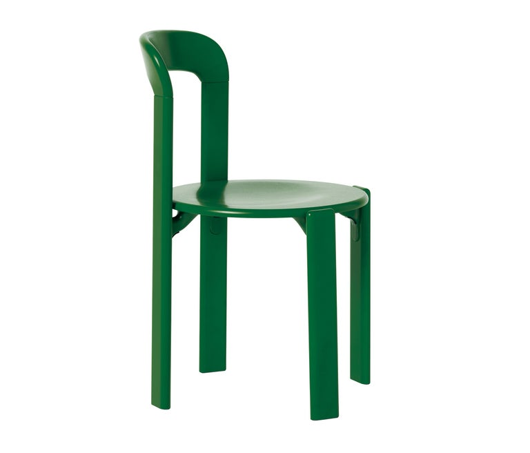 Hungarian Mid-Century Modern, Set of 6 Rey, Green Dining Chairs by Dietiker, Design 1971 For Sale