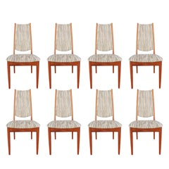 Mid-Century Modern Set of 8 Teak Dining Chairs Attributed to Johannes Andersen
