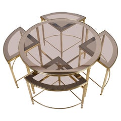Mid-Century Modern Set of Brass Coffee Tables by Maison Jansen, France, 1970