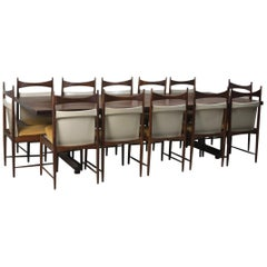 Mid-Century Modern Set of Dining Table with Chairs by Sergio Rodrigues