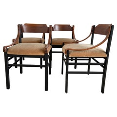 Mid-Century Modern Set of Four Danish Dining Room Mahogany Chairs, 1960s